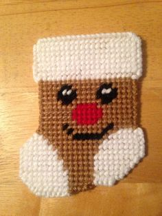 Plastic canvas Gift Card Holder Gingerbread Man needlepoint