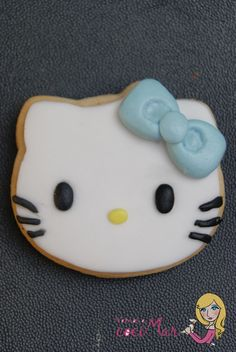 Galleta decorada fondant Hello Kitty