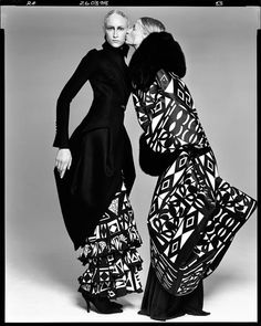Richard Avedon (1923-2004), Jade Parfitt and Esther De Jong in Art Deco ensembles, by Galliano, New York City, March 26, 1998.