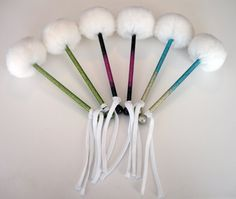 Glitter and ombre tenor mallets? Yes please.