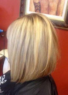 Inverted Long Layered Bob Hair