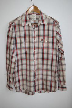 ff75c7f7aed TIMBERLAND Check Men s Casual Shirt Cotton Outdoor Survival Trekking Multi S  Men Casual