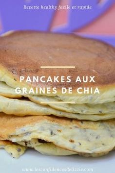 [RECETTE HEALTHY] My delicious pancakes with chia seeds - For a good and quick breakfast, opt for the chia seed pancakes - Tasty Pancakes, Breakfast Pancakes, Breakfast On The Go, Breakfast Recipes, Breakfast Healthy, German Pancakes, Quinoa Breakfast, Clean Eating Snacks, Healthy Snacks