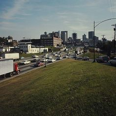 vintage downtown atlanta | Downtown Connector during rush hour in 1967.View Larger Map