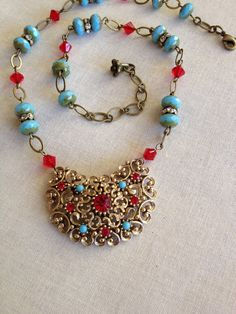 Necklace vintage assemblage Assemblage by ChicMaddiesBoutique