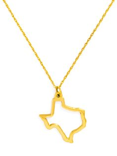 Show off your homegrown pride with this chic necklace, which features a simple and streamlined state-shaped pendant. If you ask us, it's the perfect everyday statement piece.