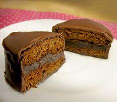 Pão de mel de chocolate com recheio de trufa #chocolate #candy #sweets