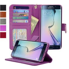 - Navor (TM) Premium Synthetic Leather Wallet Case. - Form Fit Design - 360 Degree Protection Casing - Soft Silicon Housing - Magnetic Tab Closure. - Clear Window Pocket for ID - Six Card Pockets - Sl