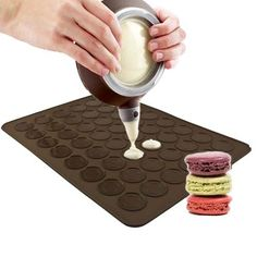 New Large 48 Silicone Macaronmuffin Baking Pastry Sheet Mat Decorative Tool Set >>> To view further for this item, visit the image link.(This is an Amazon affiliate link and I receive a commission for the sales)