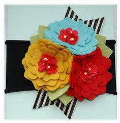 Lovely felt flower corsage.