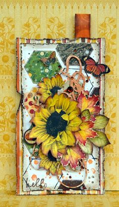 Mixed Media tag using BoBunny Enchanted Harvest Collection! ;-)