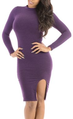 Temperature (Purple)-Great Glam is the web's best online shop for trendy club styles, fashionable party dresses and dress wear, super hot clubbing clothing, stylish going out shirts, partying clothes, super cute and sexy club fashions, halter and tube top