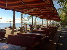 Beach club on Sanur Beach.