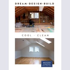 This project included converting a cramped attic into a bright and inviting master suite by expanding the small shed dormer into a large gable roof. The new space includes a master bedroom, bathroom, office space and covered balcony.  #pdxrichmond #attic #portland #skylight #skylights #pdxarchitecture #velux #vaultedceiling #marvinwindows #woodfloors #whiteoak #architecture #Builder #building #craftsmanship #design #designbuild #designteam #pdxcarpenter #pdxcontractor #pdxdesign #pdxremodel Construction Services, New Construction, Marvin Windows, Shed Dormer, Small Sheds, Gable Roof, Master Suite, Master Bedroom, White Oak