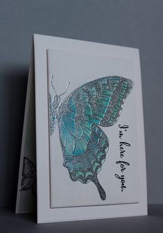 handmade sympathy card by Narelle Macey: Swallowtail - Watercolour Challenge . Stampin' Up! Making Greeting Cards, Greeting Cards Handmade, Butterfly Cards Handmade, Papillon Butterfly, Bee Cards, Stamping Up Cards, Animal Cards, Watercolor Cards, Butterfly Watercolor
