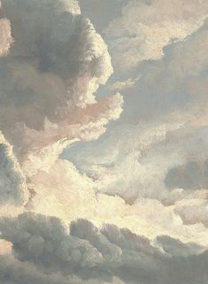 """arsantiquis: """""""" Simon Alexandre-Clement Denis - Study of Clouds with a Sunset near Rome (detail) """" """""""