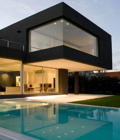 Cube Black and White House Inteiror Design