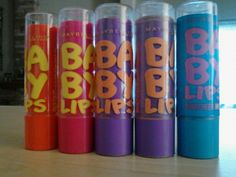 My baby lips Coral crush, Pink punch, Peach kiss, Another peach kiss and quench!!! :) #BabyLips #LipBalm #Makeup #Lips