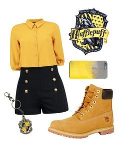 """Hufflepuff"" by closhadow on Polyvore featuring Boohoo and Timberland"