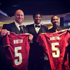 Great picture of the 3 Heisman winners from FSU.