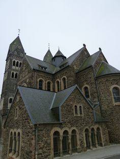 """""""Church Saints Cosmas and Damian""""(Chiesa), Clervaux, Luxembourg, Novembre"""