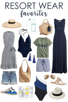 Loving all of these resort wear favorites that are perfect for a beach vacation or spring break! So many cute bathing suits, cover-ups, sundresses, sandals, and more! vacation outfits over 40 Resort Wear Favorites 2019 Summer Vacation Outfits, Vacation Style, Vacation Wear, Clothes For Beach Vacation, Beach Vacation Wardrobe, Weekend Getaway Outfits, Mexico Vacation Outfits, Hawaii Outfits, Beach Clothes