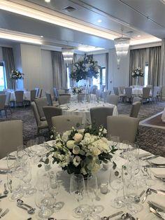Delamar Wedding Wedding Bells, Wedding Flowers, Dining Table, Table Decorations, Furniture, Home Decor, Decoration Home, Room Decor, Dinner Table