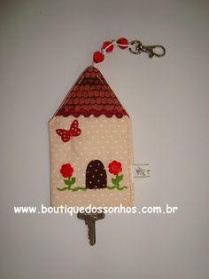 Boutique dos Sonhos: Passo a passo : Chaveiro Esconde Chaves de Casinha...