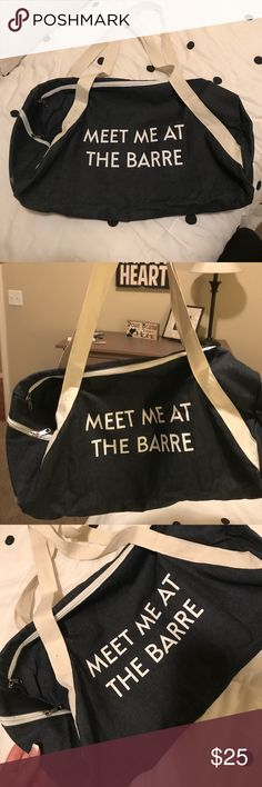 Meet me at the BARRE tote! Great bag to pack your gym clothes in! Bags