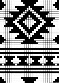 A63871 - friendship-bracelets.net Tapestry Crochet Patterns, Bead Loom Patterns, Weaving Patterns, Crochet Chart, Bead Crochet, Filet Crochet, Knitting Charts, Knitting Stitches, Knitting Patterns