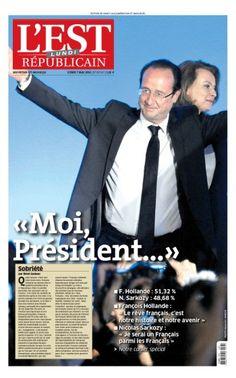 """François Hollande élu président. La """"Une"""" de L'Est Républicain"""