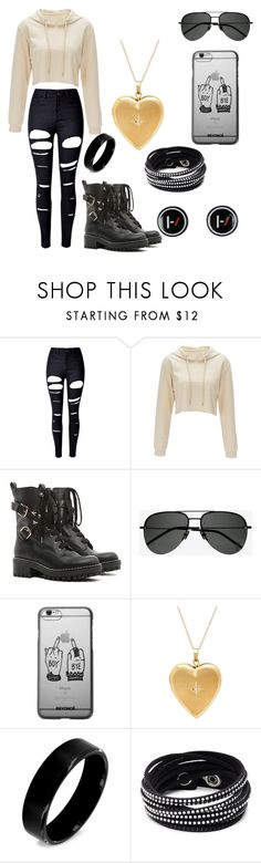 """Typical Hope"" by supernerdgirl300 on Polyvore featuring WithChic, RED Valentino, Yves Saint Laurent, West Coast Jewelry, Swarovski and Hot Topic"