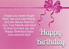 Best happy Birthday wishes for friends with images. You can send these Birthday quotes, wishes, greetings and cards to your best friends and wish them. Happy Birthday Fun, Happy Birthday Messages, Happy Birthday Quotes, True Friends, Best Friends, Birthday Wishes For Friend, Sister Quotes, Special Day, Birthdays