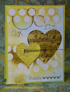 Valentine Card without the typical colors.