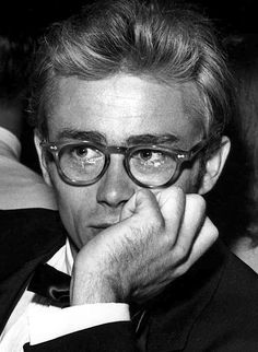 James Dean, 1955 those glasses and those sad eyes