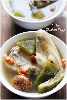 Cuisine Paradise | Singapore Food Blog | Recipes, Reviews And Travel: Cactus Chicken Soup