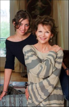 Claudia Cardinale and her daughter Claudia in their Paris apartment. Claudia Cardinale, Mafia, Emilia Clarke, Carol Vordeman, Italian Actress, Italian Beauty, Cinema, British Actors, Actor Model