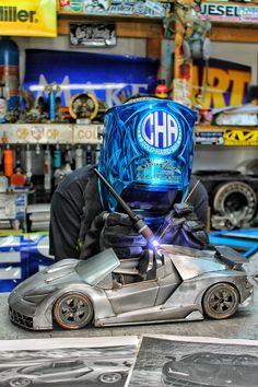 Lamborghini metal art supercar art Motorsports welding cold hard art Miller Welding