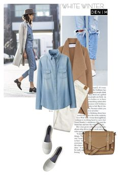 """Winter/White Denim"" by naomimjc ❤ liked on Polyvore featuring Tommy Hilfiger, Harris Wharf London, American Eagle Outfitters, Uniqlo and Topshop"