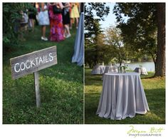 Cocktail sign. Woodlawn Estates, Southern Maryland. Rustic, country waterside wedding. http://woodlawn-farm.com/