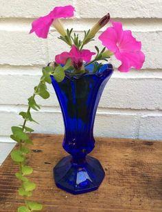 Fenton Cobalt Vase