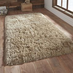 Polar pl95 shaggy rugs in beige buy online from the rug seller uk