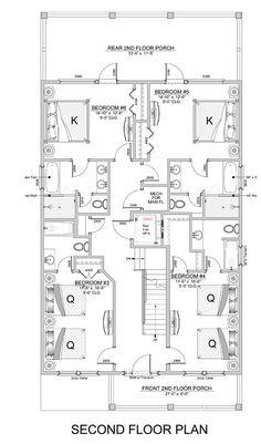 Colquitt Beach - Coastal Home Plans House Layout Plans, House Layouts, Beautiful Houses Interior, Beautiful Homes, Beach House Floor Plans, Interior Design Colleges, Duplex House Design, Southern House Plans, Coastal Homes