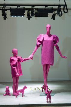 Lanvin window display in Paris by Fashion designer Alber Elbaz