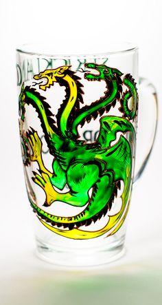 Personalized Coffee Mug Green Dragon Boyfriend gift Coffee Cup Game of Thrones Mug New Dad Gift
