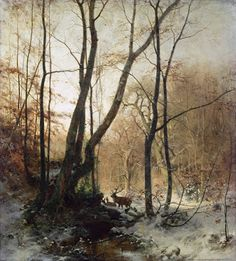 The Glowing Landscapes of Ludvig Munthe Watercolor Trees, Watercolor Landscape, Landscape Art, Landscape Paintings, Winter Szenen, Wooded Landscaping, Russian Painting, Winter Painting, European Paintings