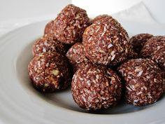 Raw German Chocolate Chia Energy Bites on Foodie