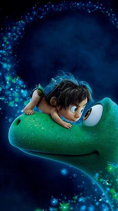 ~ Eyeball to eyeball: Arlo and Spot in a moment of bonding from The Good Dinosaur. My husband enjoys watching videos about them. They were never on my radar until I watched this movie. Not just for kids, it also appeals to adults. The overall theme of