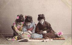 pc japan,women reading abt  l900 by janwillemsen, via Flickr