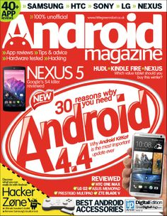 Android Magazine - magazine available through KCKPL Zinio digital magazine account.